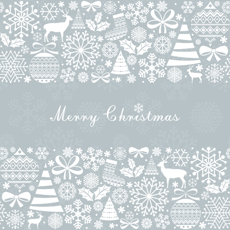 Illustration pour Christmas Greeting Card. Vintage Christmas and  New Year elements. - image libre de droit
