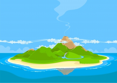 Illustration for Beautiful exotic island - Royalty Free Image