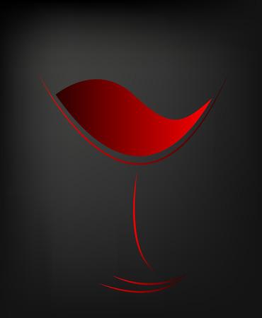Ilustración de Abstract icon of red wine, vector art illustration. - Imagen libre de derechos