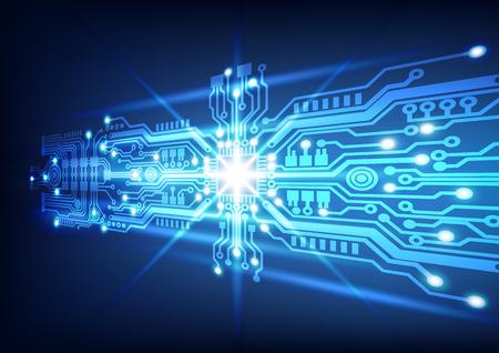 Ilustración de circuit board technology  background - Imagen libre de derechos