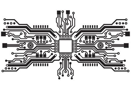 Ilustración de Abstract technology circuit board background texture - Imagen libre de derechos