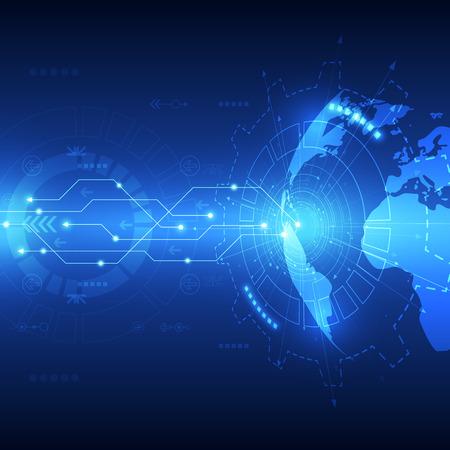 Illustration pour Abstract global future technology background, vector illustration - image libre de droit