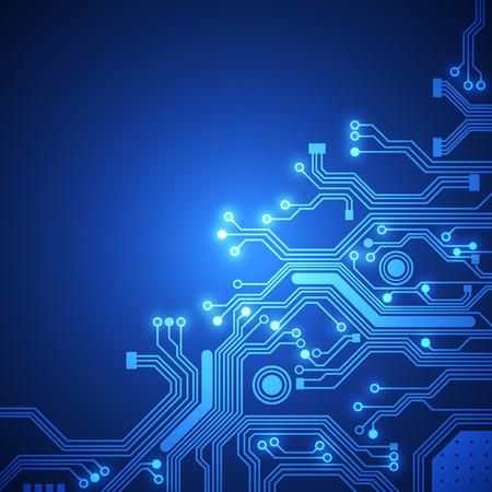 Ilustración de circuit board vector background - Imagen libre de derechos