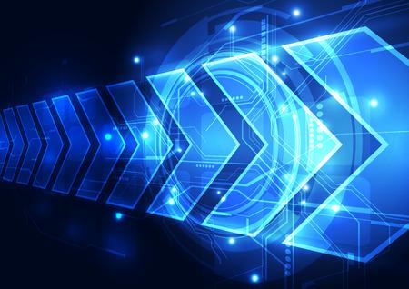 Ilustración de vector digital speed technology abstract background - Imagen libre de derechos