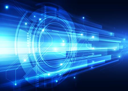 Ilustración de digital speed technology abstract background - Imagen libre de derechos