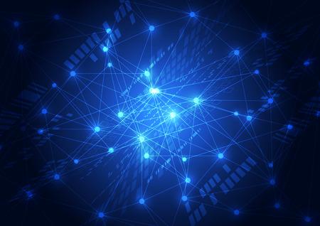 Ilustración de abstract vector future network technology background illustration - Imagen libre de derechos