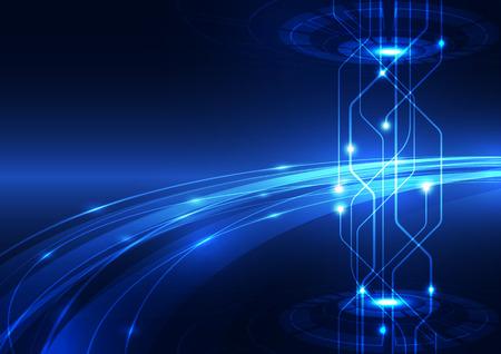 Illustration pour abstract vector hi speed internet technology background illustration - image libre de droit