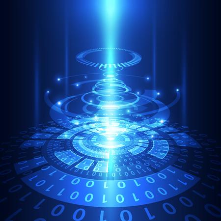 Illustration pour abstract vector future technology telecom background illustration - image libre de droit