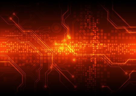 Ilustración de abstract vector circuit board background illustration - Imagen libre de derechos