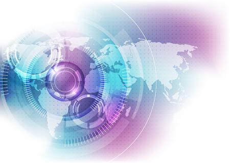 Photo pour vector digital global technology concept, abstract background - image libre de droit