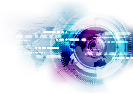 Photo pour digital global communication technology concept, abstract background - image libre de droit