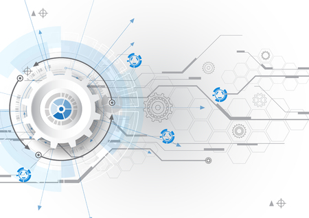 Illustration pour vector abstract background digital technology communication concept - image libre de droit