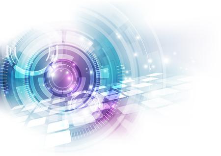 Illustration pour vector digital speed technology concept, abstract background - image libre de droit