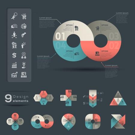 Ilustración de Graphic Element   Infographic template - Imagen libre de derechos