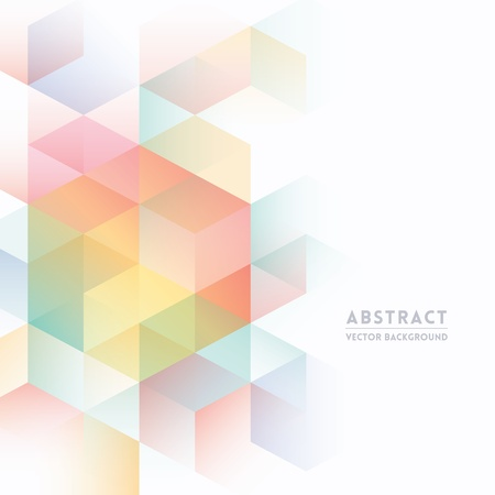 Ilustración de Abstract Isometric Shape Background for Business / Web Design / Print / Presentation - Imagen libre de derechos