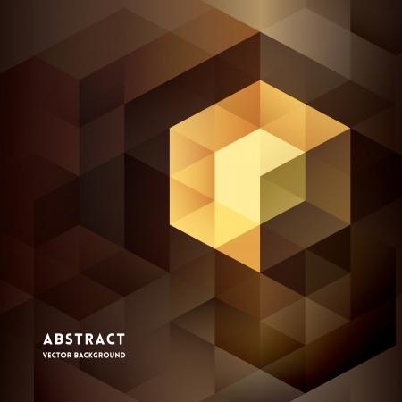 Illustration pour Abstract Isometric Shape Background for Business / Web Design / Print / Presentation - image libre de droit