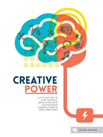 Illustration pour Creative brain Idea concept background design layout for poster flyer cover brochure - image libre de droit
