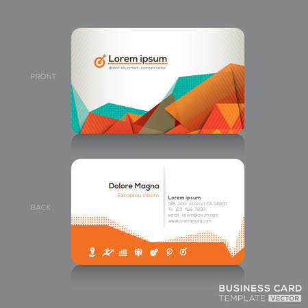Illustration pour Modern Abstract Business cards Design Template - image libre de droit