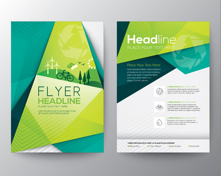 Illustration for Abstract Triangle Brochure Flyer design template in A4 size - Royalty Free Image