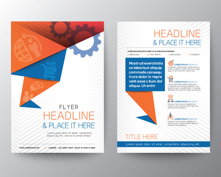 Illustration pour Abstract Triangle Brochure Flyer design Vector Layout in A4 size - image libre de droit