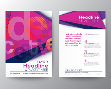 Illustration pour Abstract Triangle Brochure Flyer design Layout template in A4 size - image libre de droit