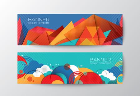 Illustration pour Abstract colorful polygon cloud banner design vector template - image libre de droit