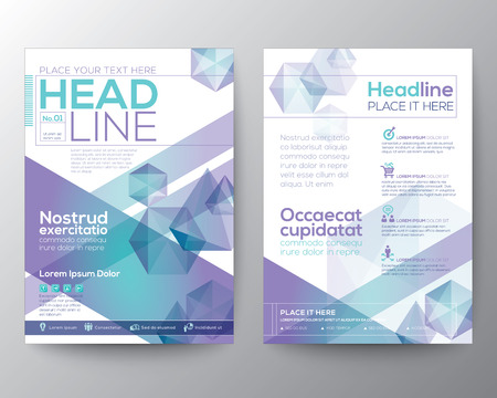 Ilustración de Abstract polygon design vector template layout for magazine brochure flyer booklet cover annual report in A4 size - Imagen libre de derechos