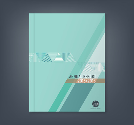 Illustration pour Abstract triangle stripe shape background for business annual report book cover brochure flyer poster - image libre de droit
