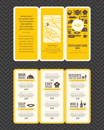 Illustration pour Modern Restaurant menu design pamphlet template in A4 size Tri fold - image libre de droit