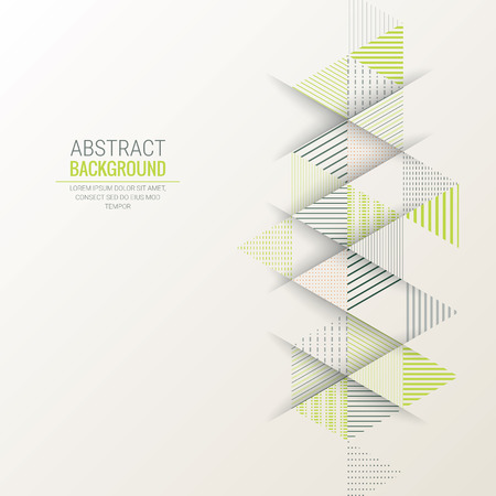 Ilustración de abstract triangle line stripe pattern vector background - Imagen libre de derechos