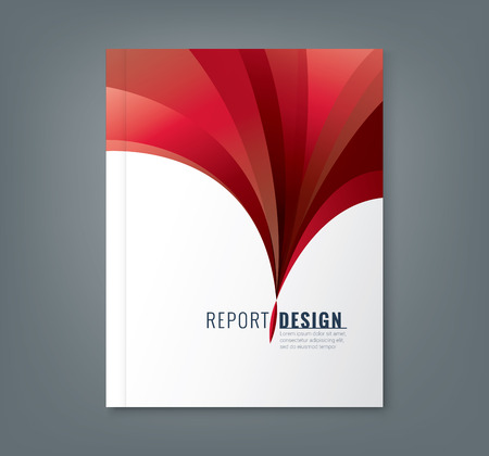 Ilustración de Abstract red wave background for corporate  business annual report book cover brochure flyer poster - Imagen libre de derechos