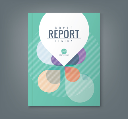 Illustration pour Abstract Petal shape background for corporate  business annual report book cover brochure flyer poster - image libre de droit