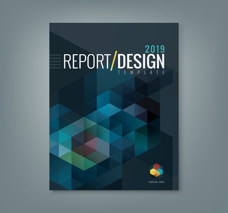Foto de Abstract hexagon cube pattern background design for corporate business annual report book cover brochure flyer poster - Imagen libre de derechos