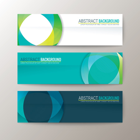 Illustration for Set of modern design banners template with abstract circle shape pattern background - Royalty Free Image