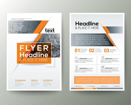 Ilustración de Poster Brochure Flyer design Layout vector template in A4 size - Imagen libre de derechos