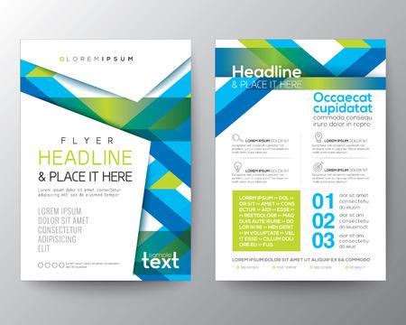Ilustración de Abstract blue and green background for Poster Brochure Flyer design Layout vector template in A4 size - Imagen libre de derechos