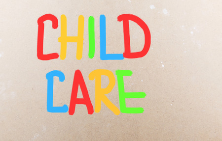 Foto de Child Care words - Imagen libre de derechos