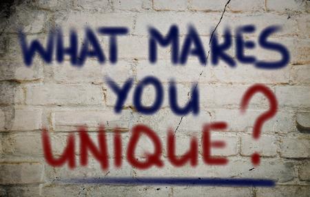 Foto de What Makes You Unique Concept - Imagen libre de derechos