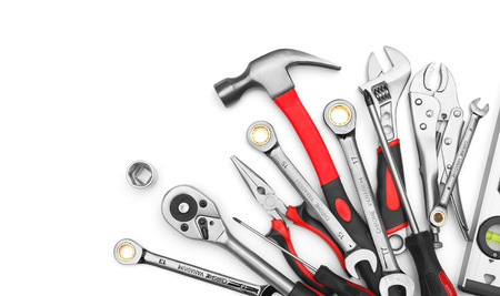 Foto de Many Tools on white background - Imagen libre de derechos