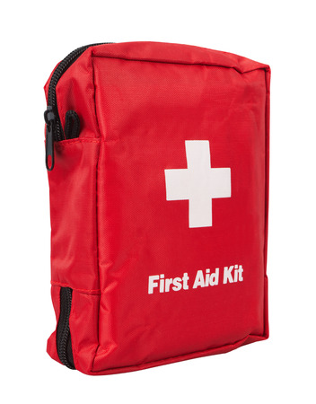Foto de First Aid Kit, isolated on white background - Imagen libre de derechos