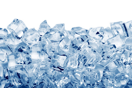 Photo for Ice cubes isolated on white background - Royalty Free Image