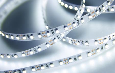 Photo pour Diode strip. Led lights tape close-up - image libre de droit