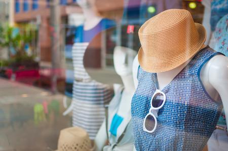 Foto de Female mannequins inside a fashion house - Imagen libre de derechos