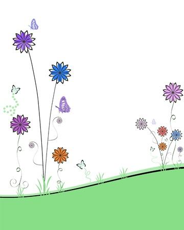 abstract spring garden