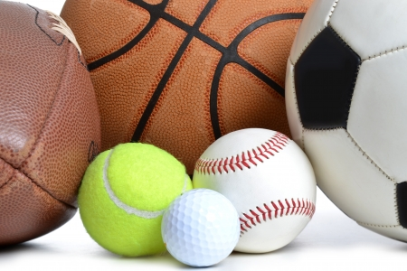 Photo for sports balls on white bckground - Royalty Free Image