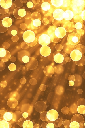 Bokeh abstract light background and golden.