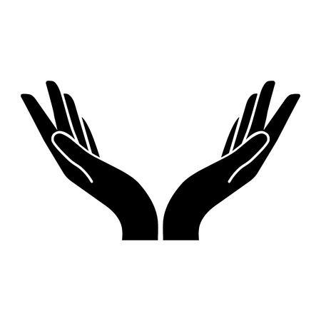 Illustration pour two hands vector icon. Flat design style - image libre de droit