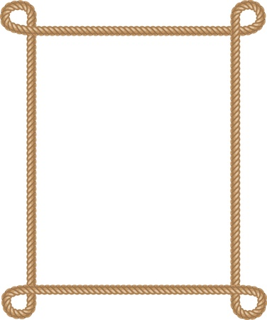 Photo for  Vector Rope Border on white - Royalty Free Image