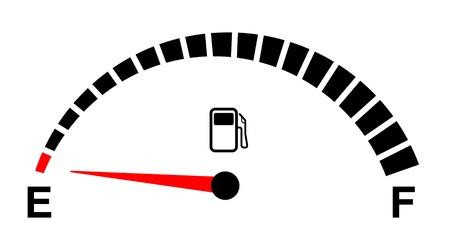 Illustration pour fuel gauge empty on white   - image libre de droit