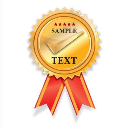 Illustration pour empty Golden label vector design   - image libre de droit